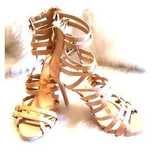 JustFab tan sandal, size 8